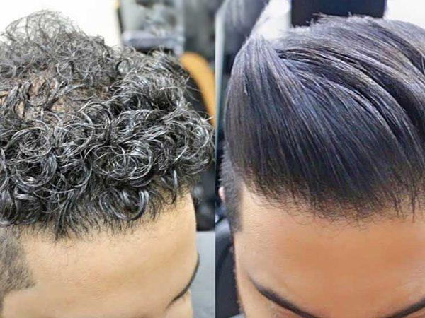 تصویری از چگونگی و طرز انجام کراتینه مو