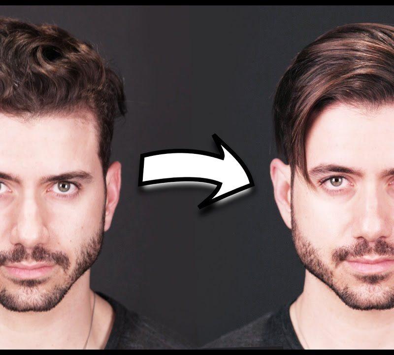 تصویری از قبل و بعد از انجام صافی مو در مردان