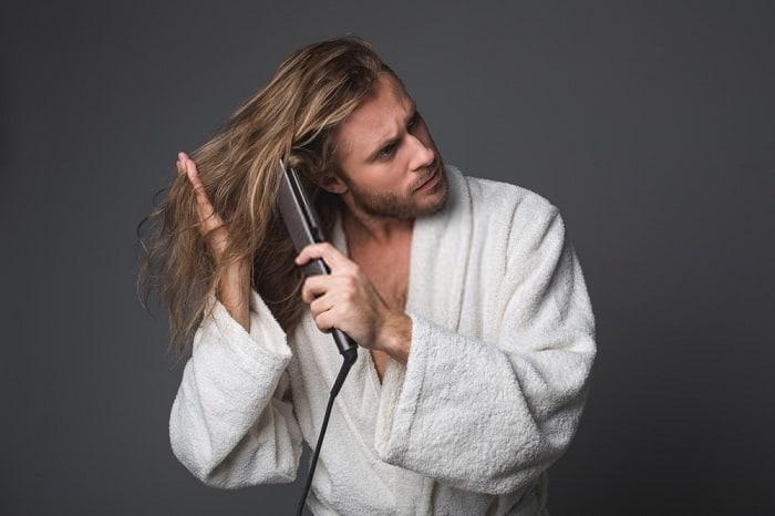 آموزش صاف کردن مو مردانه